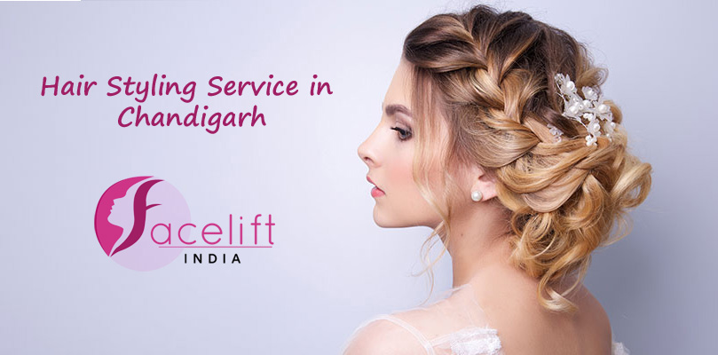 Hair styling service at home Chandigarh