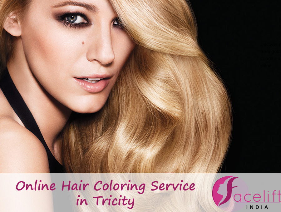 Online hair coloring service Tricity